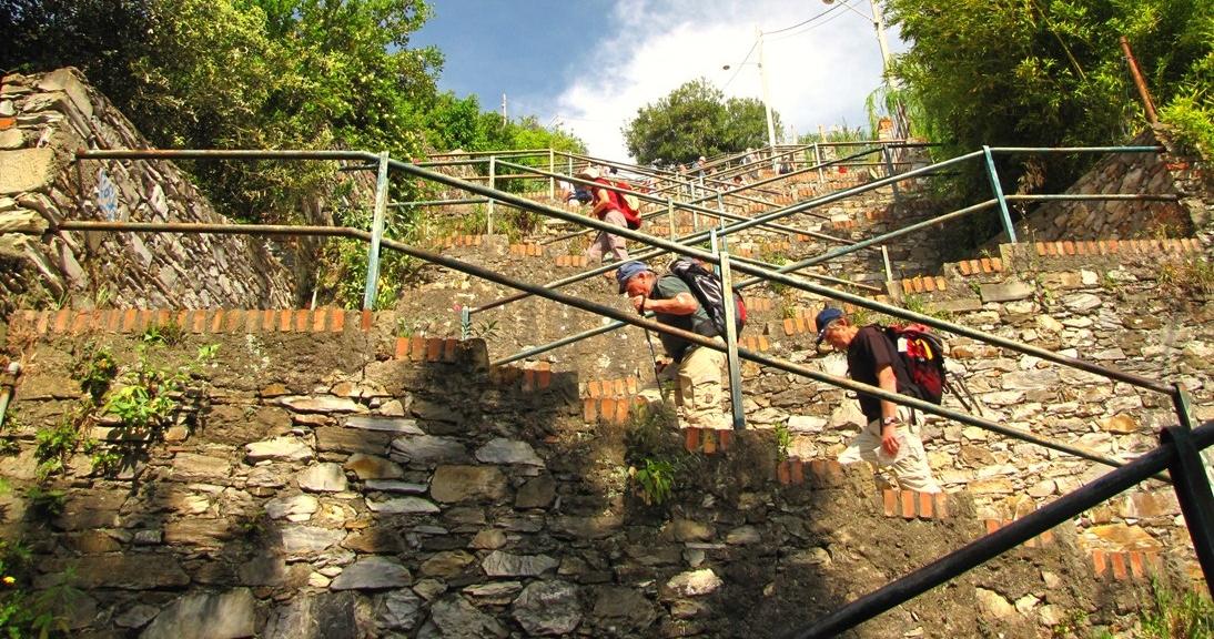 382 steps to Corniglia Cinque Terre