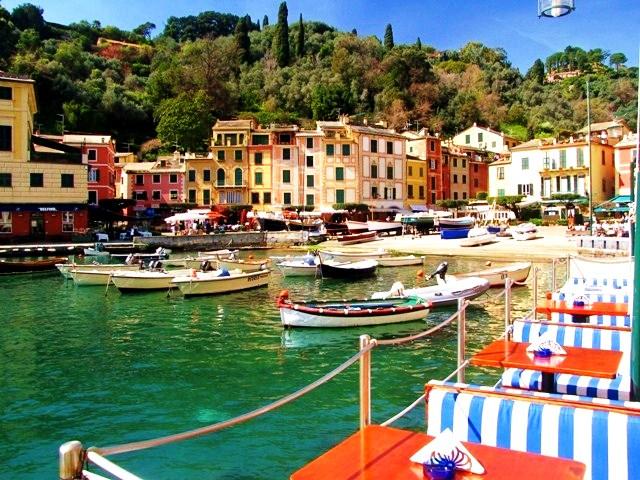 Portofino harbor near Genoa