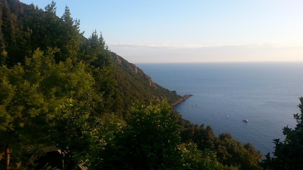 hiking to punta Chiappa next to Camogli