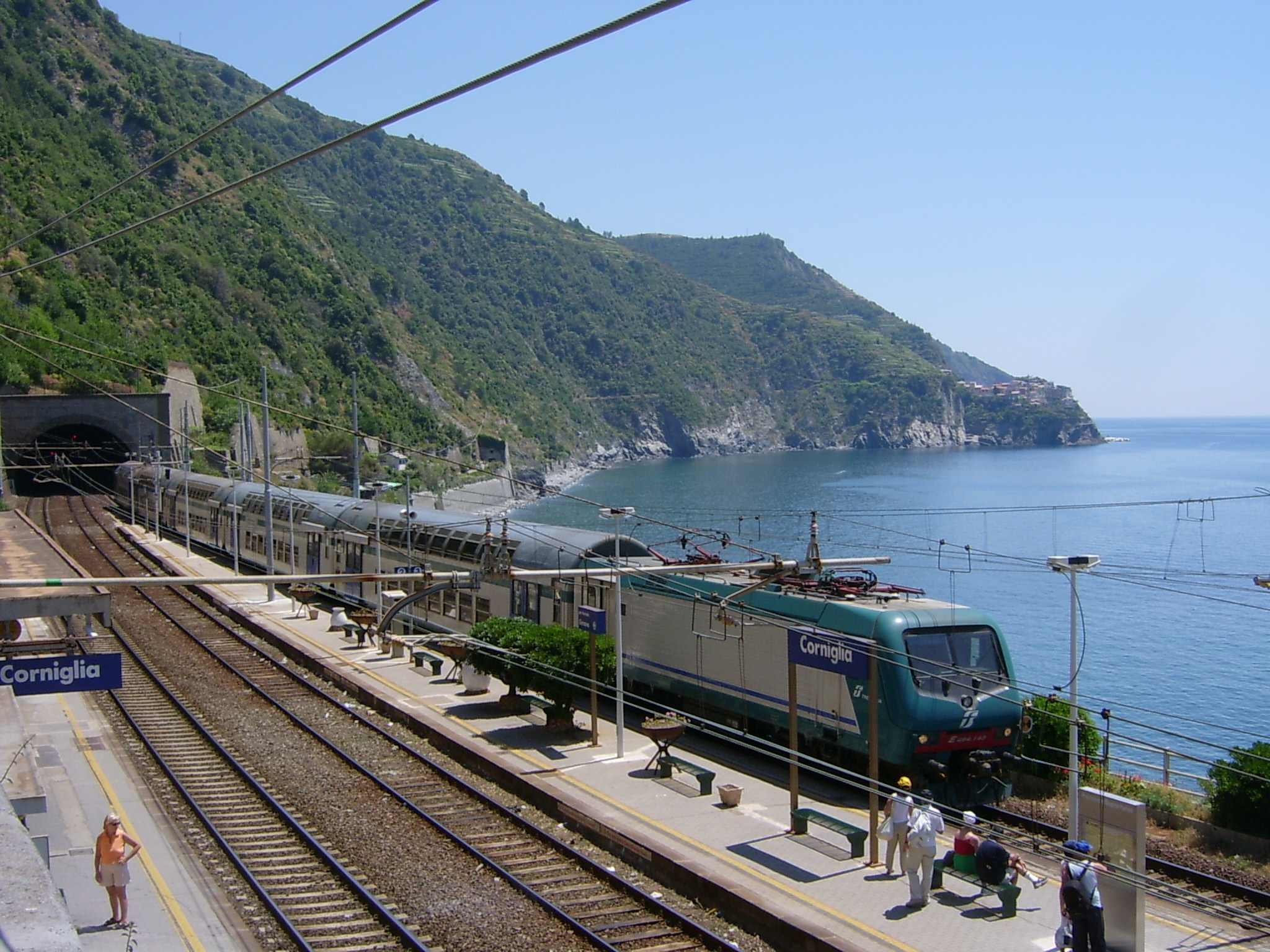 Panoramic station in Cinque Terre