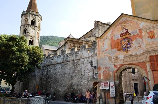 Finalborgo village in the westerrn Liguria