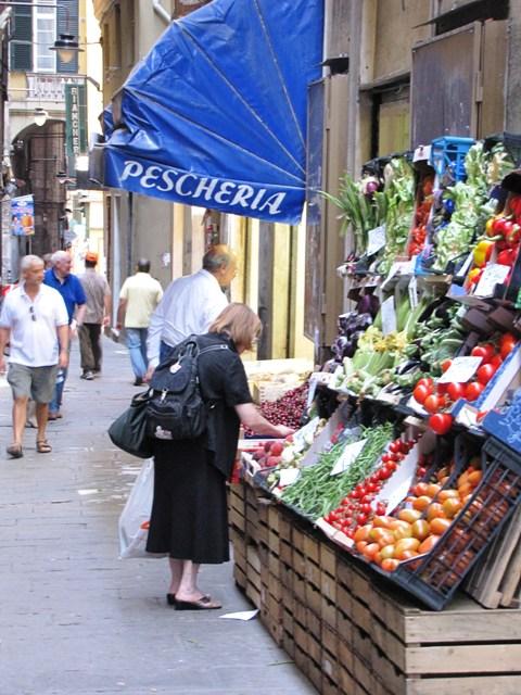 Genoa Italy. shops.