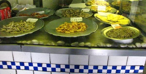Sciamadda with Genoa street fresh seafood