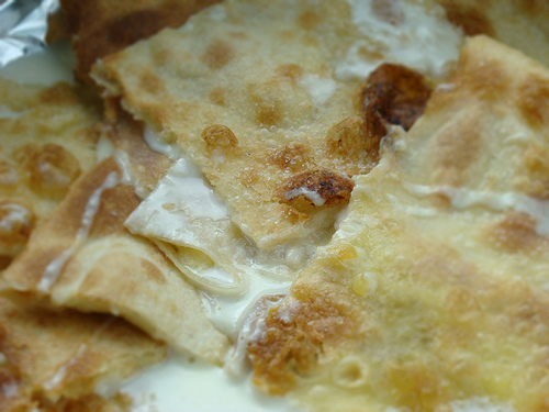 Genoa street food: cheese focaccia from Recco