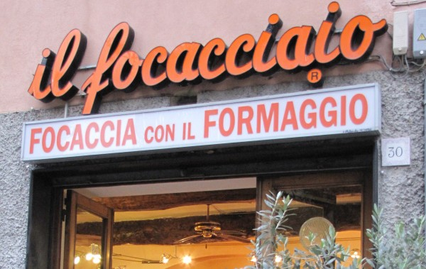 A focacceria. Genoa street food shop
