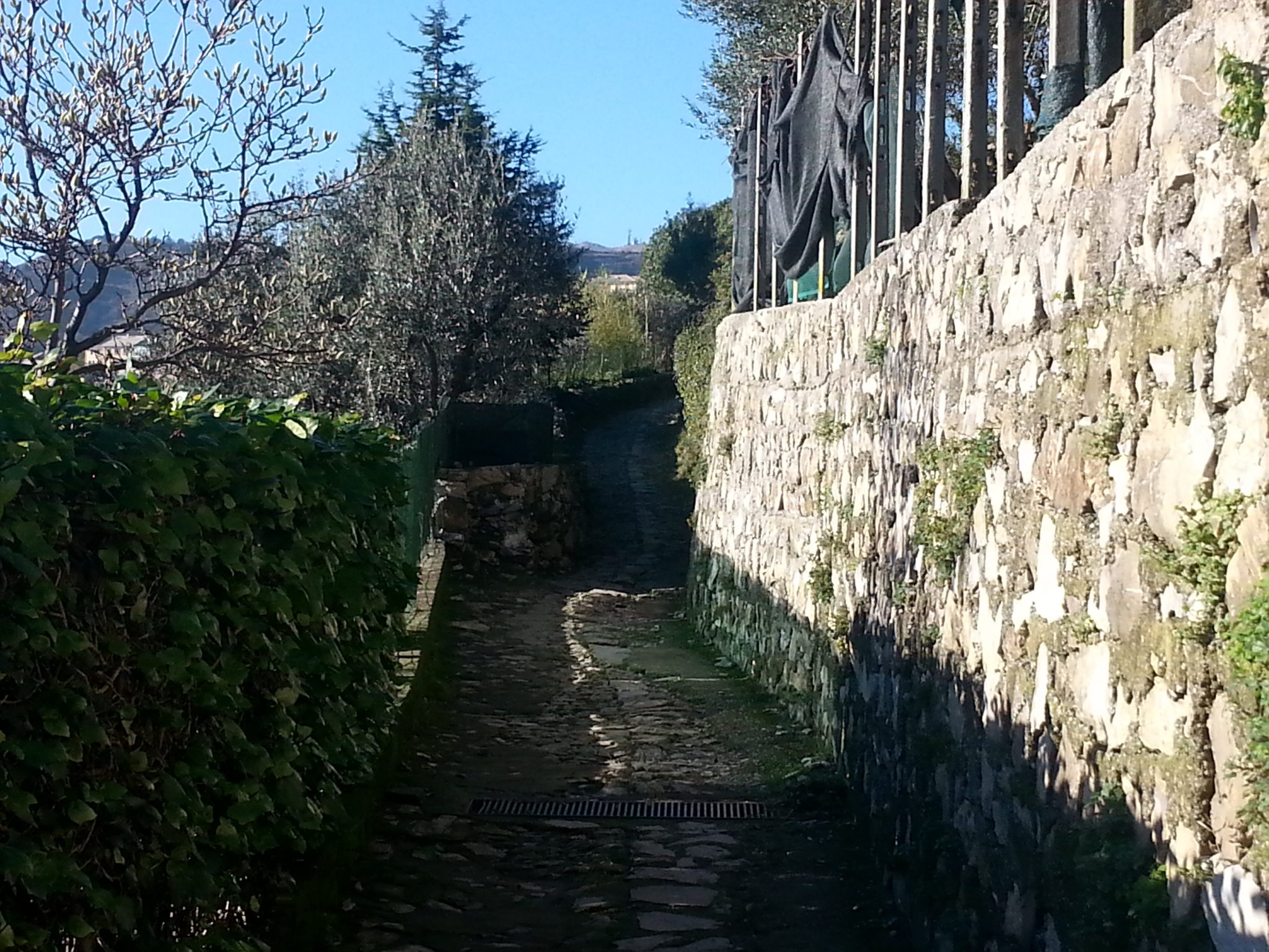 Old path in the Italian Riviera