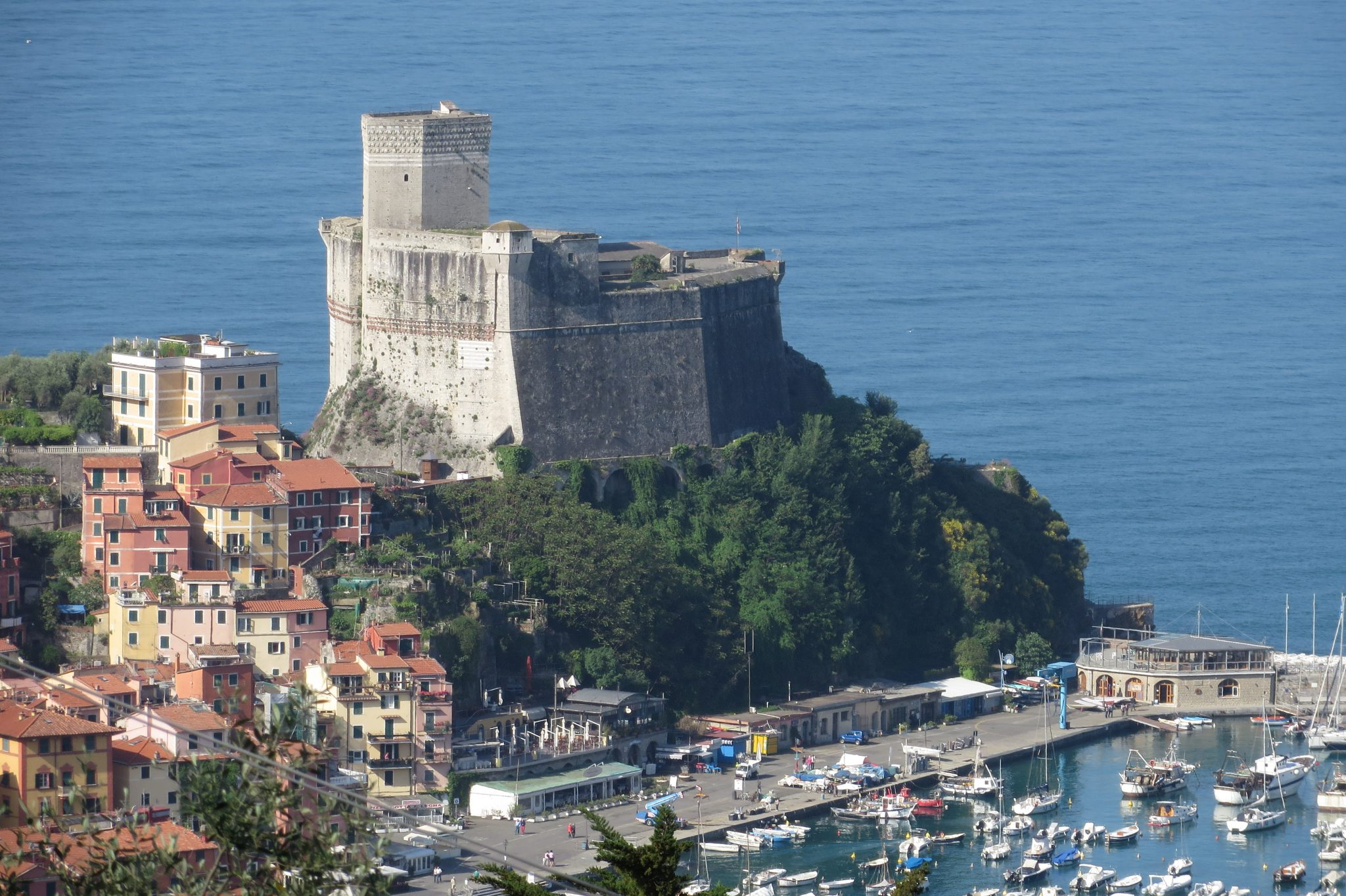 The castle of Lerici in the Poet's Gulf