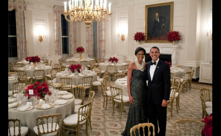 Events at the White House. The chiavarina chair handmade in Liguria [ph. credits Pete Souza]