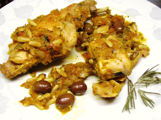 Ligurian rabbit recipe with taggiasca olives!