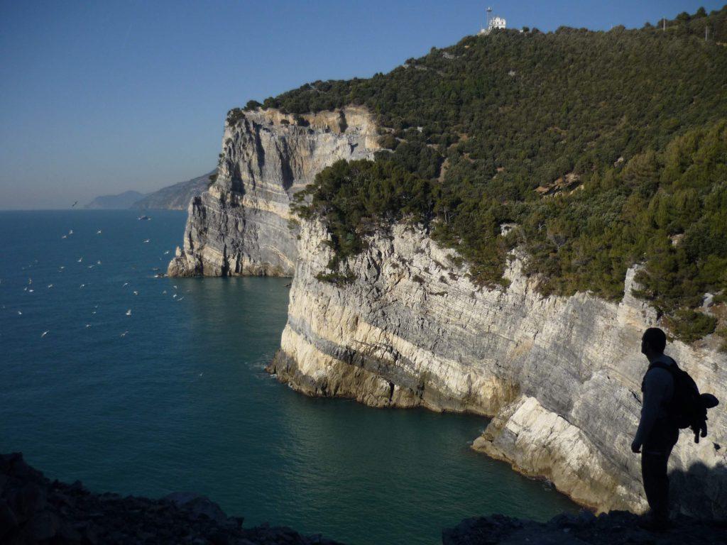 Hiking in the Italian Riviera in winter
