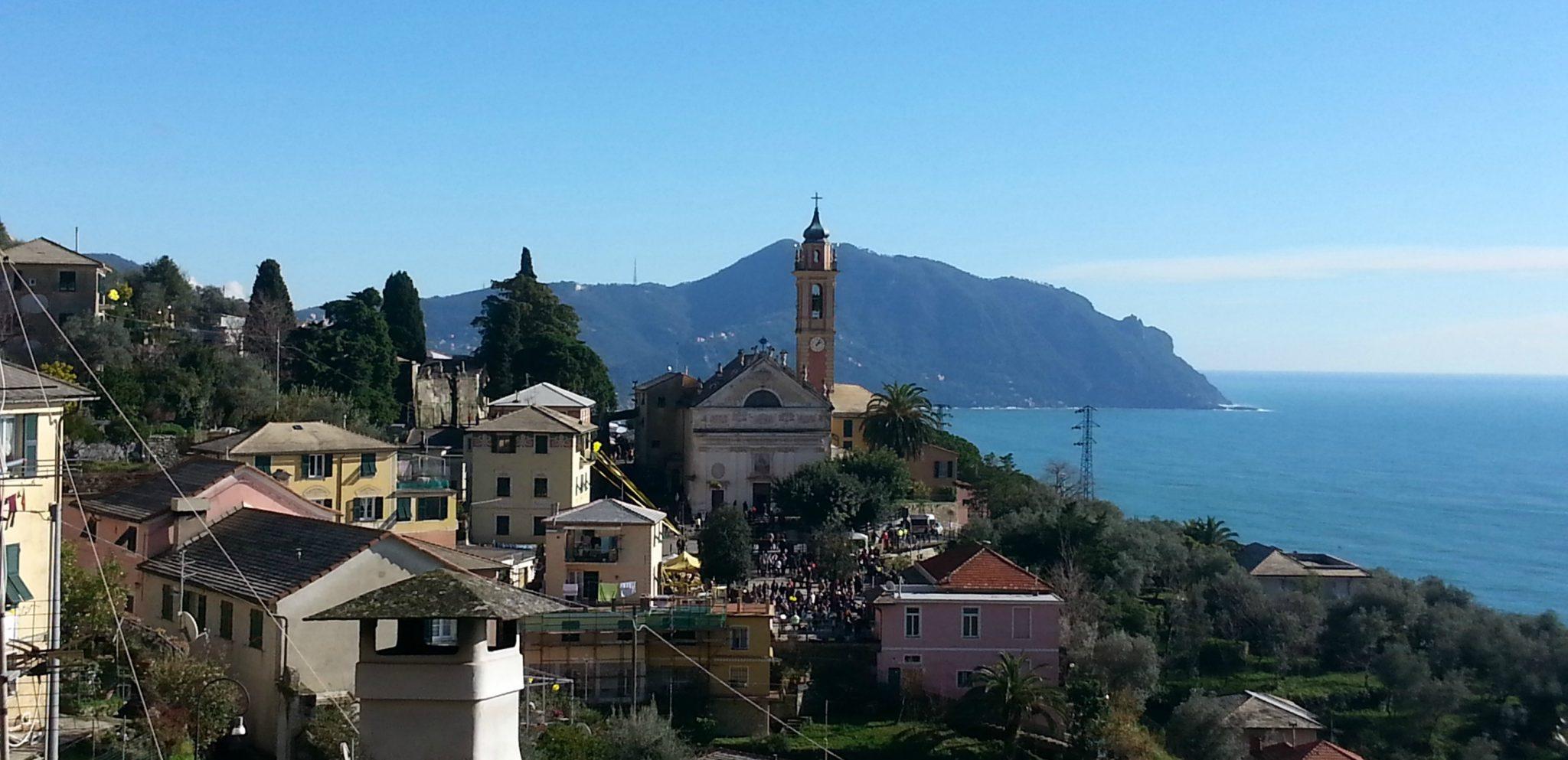 The village of Pieve Ligure