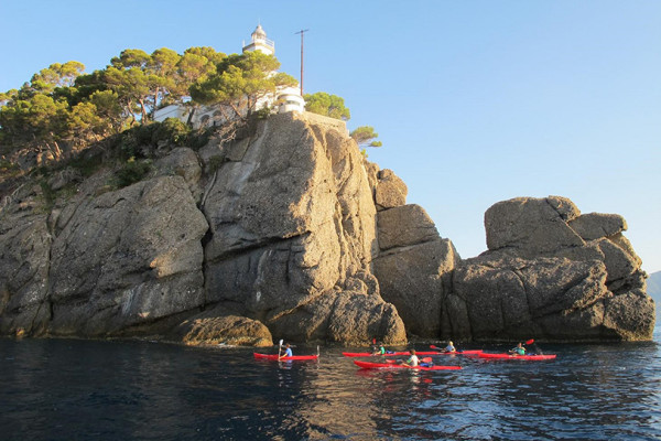 Kayak excursion in Portofino
