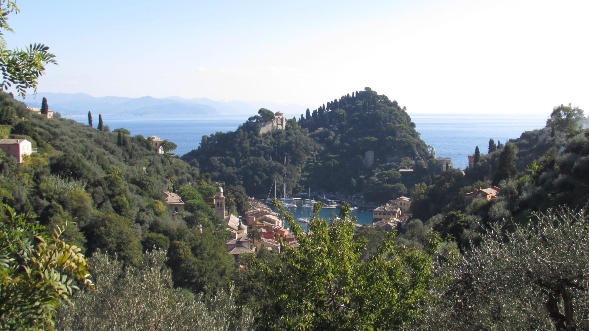 The amazing view of Portofino from the aromatic herbs path