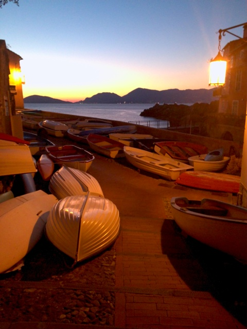 Sunset Tellaro Liguria