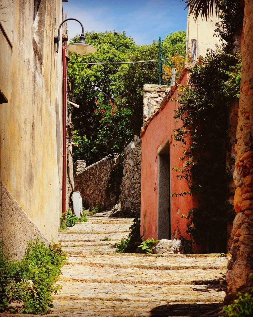 Beautiful street in Verezzi west riviera Liguria