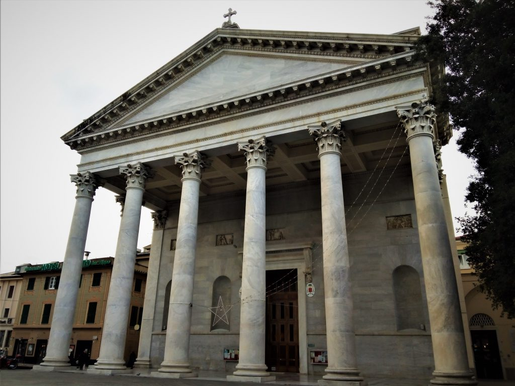 The monumental Cathedral in Chiavari