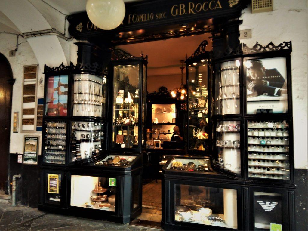 The jewelry shop in Chiavari