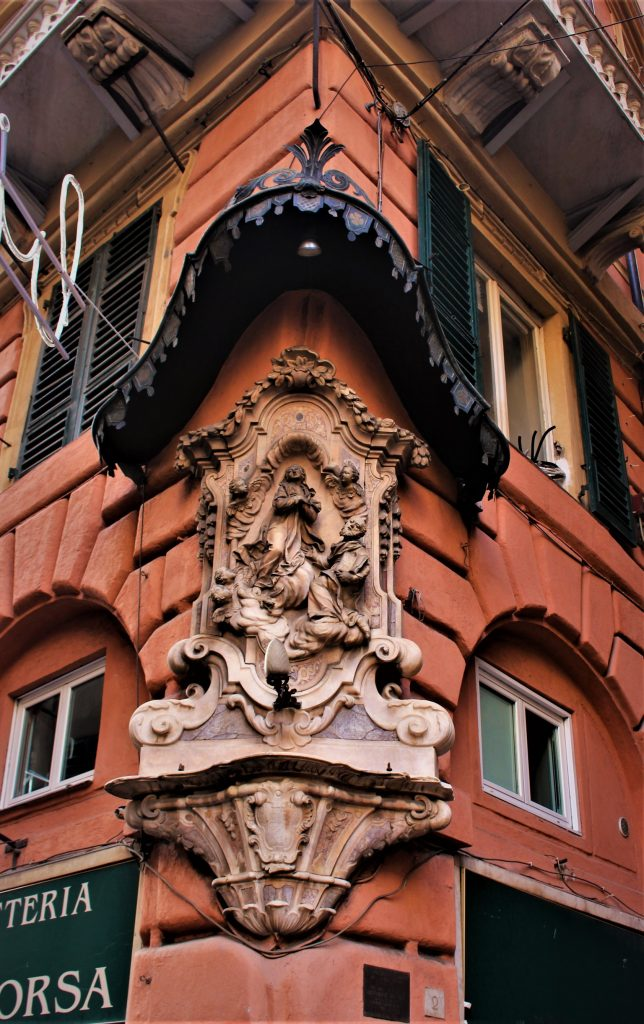 A details in the historical centre Genoa