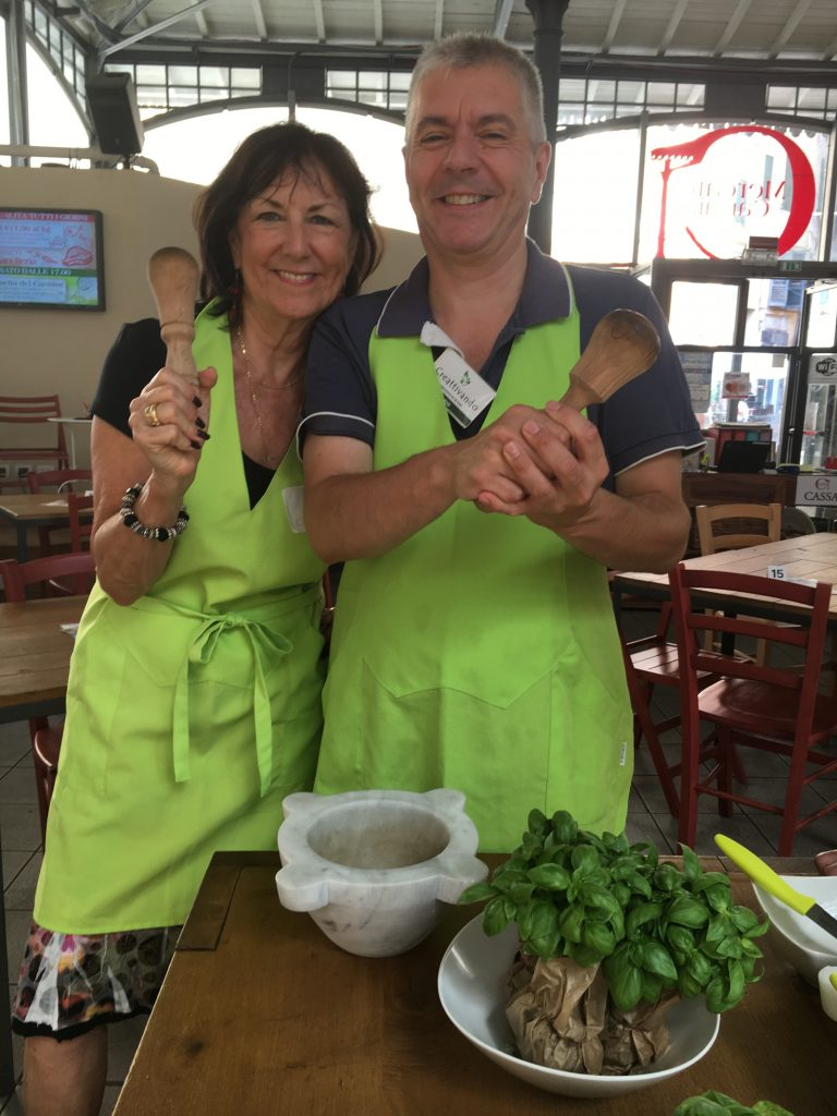 Pesto cooking lesson