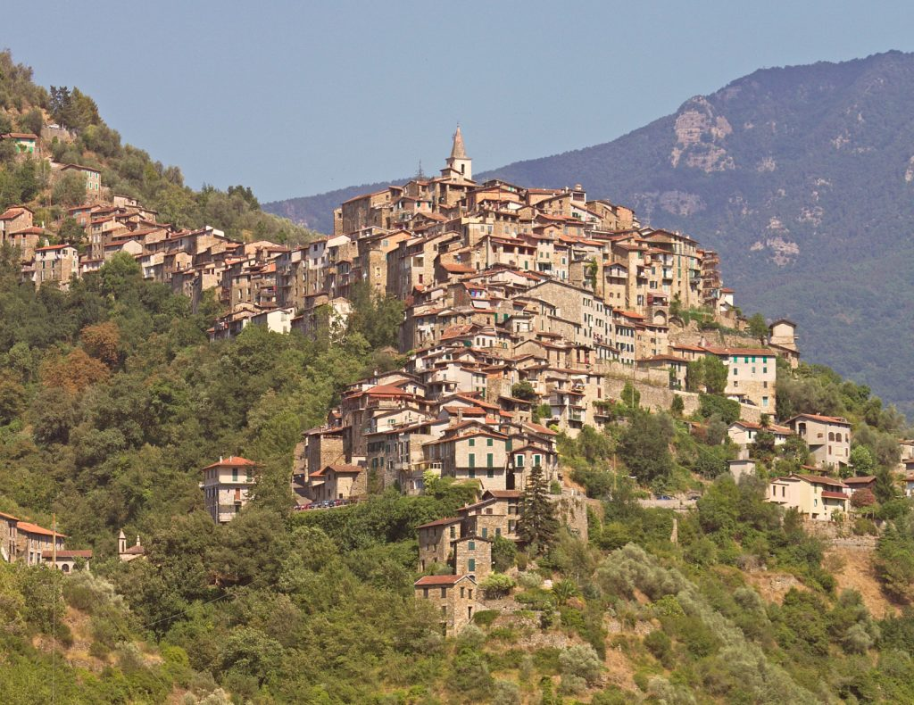 Apricale, medieval village in Liguria