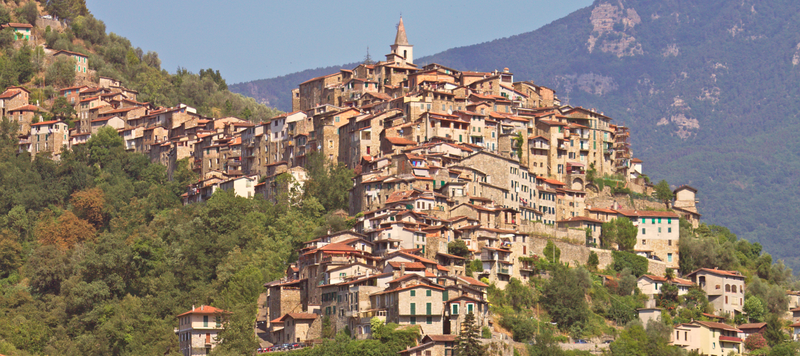 West Riviera, the perched medieval villages of Dolceacqua and Apricale